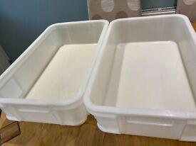 Dry white fish trays x 2