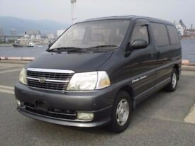 Toyota Granvia direct Japan Import supplied fully UK Reg. More en route, contact Algys Autos.