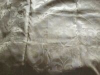 Gold embossed design curtains, brand new creamy gold colour