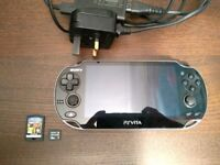 PS Vita in Excellent Condition + 16GB Memory Card + Minecraft + Charger + Case