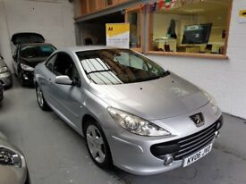 2006 PEUGEOT 307CC 2.0 CONVERTIBLE, DIESEL, SERVICE HISTORY, ONLY 75K MILES, DRIVES LIKE NEW