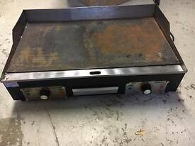 Electric double burner used griddle grill hotplate for sale