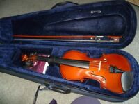 Violin-Mayflower 1/2 size with case and spare strings