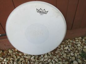 """Drums - Remo Drum Head 14"""" Emperor X Coated + Black Dot - Little Use"""