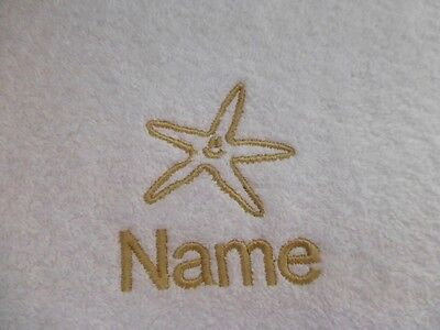 - STARFISH Embroidered on Towels, Hooded Towel, Bath Robes with Personalised name