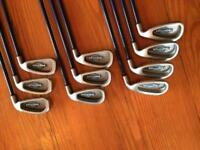 Callaway Big Bertha X12 irons. Graphite shafts.
