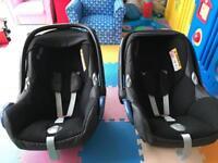 MaxiCosi CabrioFix Car Seats x 2