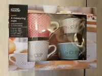 Ceramic Measuring Cups For Baking Brand New In Box £3