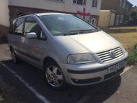 Volkswagen Sharan Sport, Petrol 1.8, Silver. MOT until October 2018