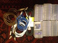 54 brand new Digital Audio Tapes (DAT) + a number of mic cables