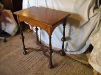 William & Mary Oak Hall Table