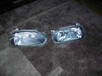 VW Golf MK3 genuine Hella headlights,very tidy,NOT gti type.For GL,CL etc .