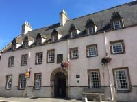2 bed unfurnished flat in Inverness City Centre with parking space and security entrance
