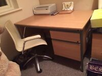 Study desk and chair - good condition