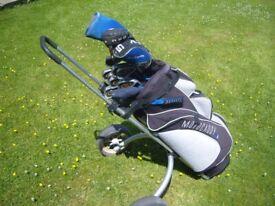 slazenger driver hippo 3 wood md 5 wood ben sayers irons putter motocaddy bag aluminium trolley