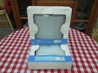 Wickes Curved Glass Wall Light x 2. 230 volts. 27cm x 27cm x 10cm. New in box.