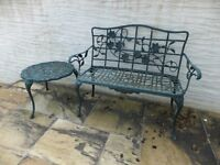 Garden Bench and Table, Rust proof.