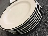 Set of dinner plates and side plates