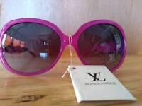 Ladies purple LV sunglasses