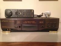 Hitachi Video Cassette Recorder. This is a fantastic video player & recorder for VHS, PAL, & NTSC.