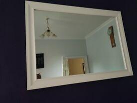 White elegant mirror