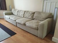 LARGE FOUR SEATER SOFA
