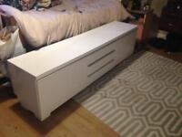 White Gloss TV unit stand