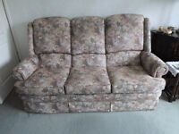 Parker Knoll three seater settee and matching chair