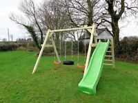 heavy duty swing set and slide for sale newly built