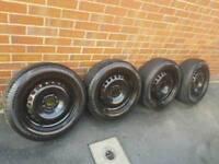 Ford Jaguar steels wheels 16inch new tyres on