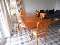 Dining table and chairs as new