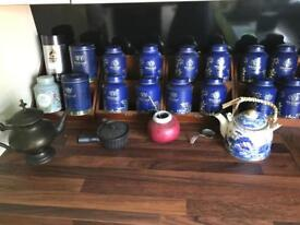 Whittled tea collection