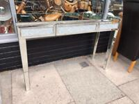 Mirrored Diamond Crush Dressing Table / Console Table