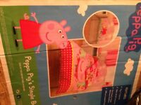 OFFER! Peppa Pig Single Bed And Set
