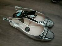 Brand new with tags silver sling back shoes size 6