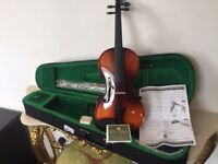 ANTONI DEBUT FULL SIZED VIOLIN FIDDLE OUTFIT - INCLUDES CASE, BOW