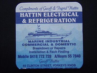 HATTIN ELECTRICAL & REFRIGERATION 44 CLINTON YORKEYS KNOB 557840 c1996 COASTER