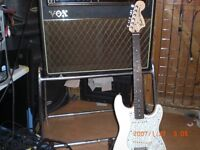 VOX AC30 STAND AS USED BY HANK MARVIN , THE BEATLES , THE HOLLIES , ETC