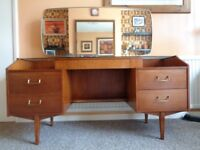 Vintage 1960's Teak Dressing Table with Large Mirror