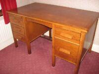 Solid Oak Vintage Desk