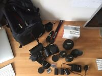 Canon 7D Kit with full broadcast accesories