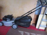 Mountfield hand-propelled petrol lawnmower.