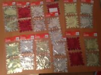 Christmas and New Year decoration and paper wraps job lot