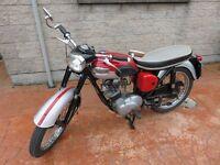 Classic 1965 Triumph Tiger Cub Motorbike