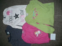 Bundle of 4 Long Sleeve Tops for Girl 7-8 years. In good condition. Mostly 100% cotton.