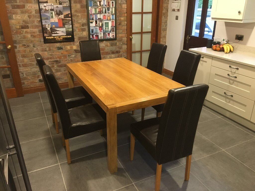 ABSOLUTE TOP QUALITY Solid Oak Kitchen Table 6 Chairs BELFAST NEWCASTLE Deliverypossible Dining Room