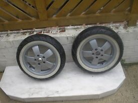 vespa alloy wheels and tyres fit 150 200 300 gt and l models good tread