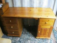 MODERN SOLID PINE KNEE HOLE DESK - DRESSING TABLE. VIEWING / DELIVERY AVAILABLE