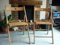 Ikea 'Terje' Folding Wooden chairs