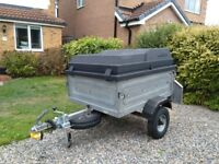 Erde 122 camping trailer with ABS lid. Refurbished with extras.